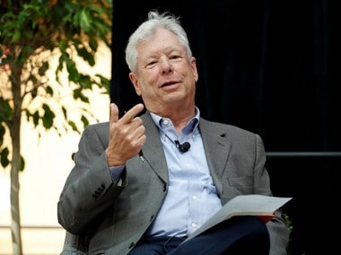 US economist Richard Thaler, of the University of Chicago Booth School of Business, speaks during a news conference after winning the 2017 Nobel Economics Prize in Chicago, Illinois, US. Reuters