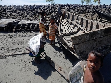 Remnants of the boats destroyed by Bangladesh. Reuters