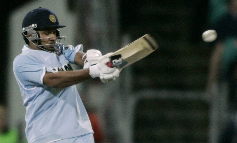 File photo of Rohit Sharma hitting a shot against Australia during the ODI tri-series in 2008 at Sydney. Reuters