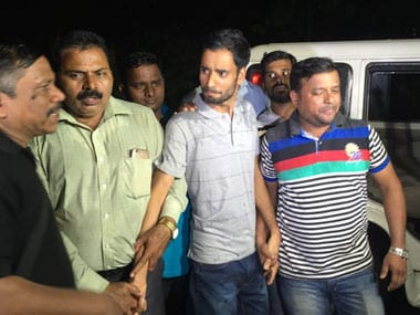 Sajjad Mughal after being arrested by Mumbai Police. Image procured by Sanjay Sawant