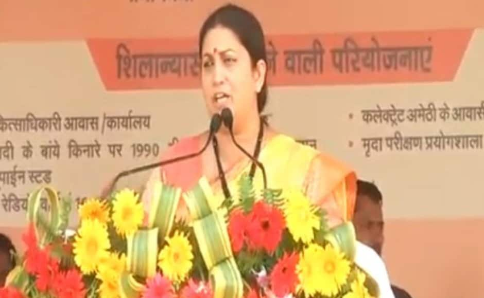 Smriti Irani also took a jibe at Congress leader Rahul Gandhi. She claimed that visits by her and senior BJP leaders ensured that the people of the district were seeing more of the Congress vice- president. Twitter@BJP