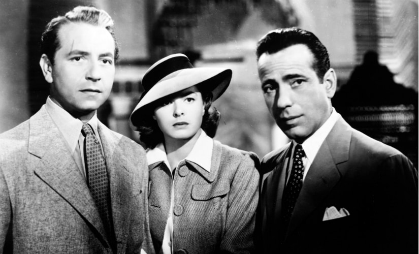 Victor (Paul Henreid), Ilsa (Ingrid Bergman) and Rick (Humphrey Bogart): one of the most famous cinematic love triangles. YouTube