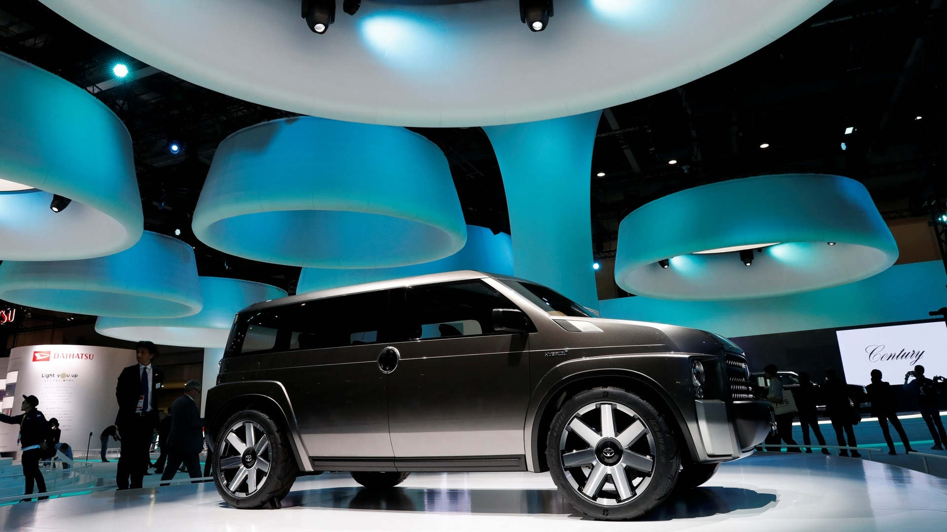Toyota Motor showcase the TJ Cruiser during media preview of the 45th Tokyo Motor Show in Tokyo. Reuters