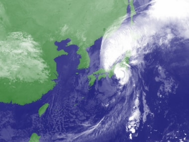 Typhoon Lan approaching Japan. Japan Meteorological Agency