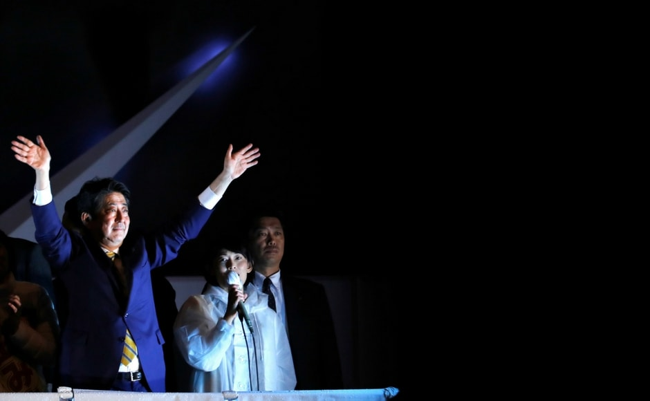 Media polls suggest that Shinzo Abe's ruling coalition is likely to win the elections and possibly even retain its two-third majority in the more powerful lower house of Parliament. AP