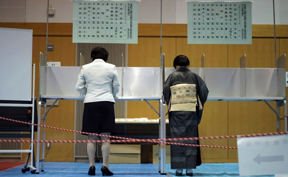The voting comes shortly after North Korea lobbed two missiles over the northern island of Hokkaido and threatened to sink Japan into the sea.AP