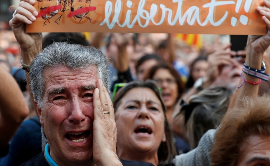 The motion passed in the regional Parliament in Barcelona — which was boycotted by opposition parties — said Catalonia constituted an independent, sovereign and social democratic state. Reuters