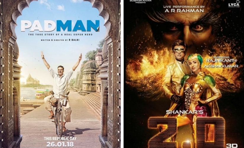 Poster of Padman and 2.0.