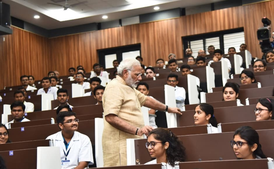 The prime minister also inaugurated the Rs 500 crore GMERS medical college and interacted with the medical students. Twitter@PMOIndia