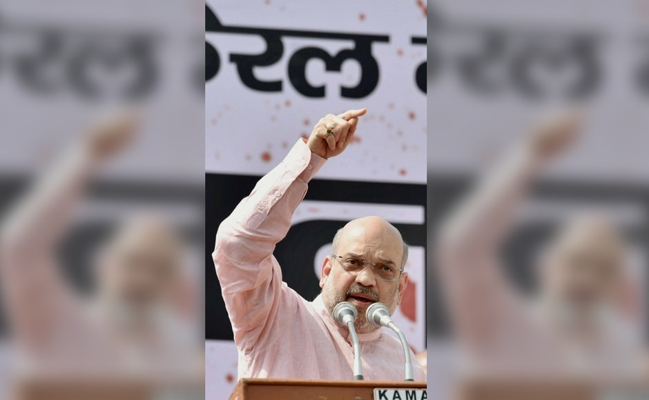 """I want to tell the CPM and Congress that communists have disappeared from the world and Congress from India. And BJP, which was launched with 10 persons, is today the world's largest party with 11 crore workers,"" Shah said. PTI"