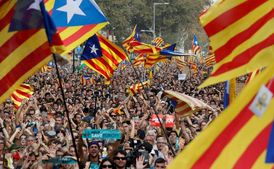 Catalonia's Parliament declared independence from Spain on Friday in defiance of the Madrid government. Reuters