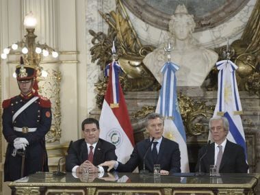 Presidents of Argentina, Paraguay and Uruguay to announce their candidacy to organise the FIFA World Cup 2030. AFP