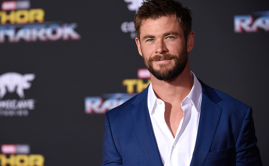 Chris Hemsworth poses for the photographer at the world premiere of Thor: Ragnarok. Photo courtesy: AP/Chris Pizzello