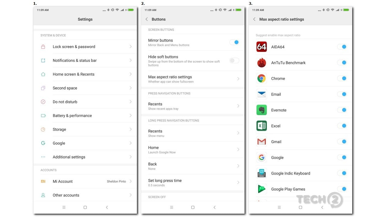 Yes, third-party apps can be manually stretched to fit the tall display.