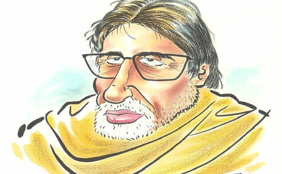 Amitabh Bachchan as he looks today. He will be seen in Umesh Shukla's 102 Not Out next. All images from the Facebook page of Raj Thackeray