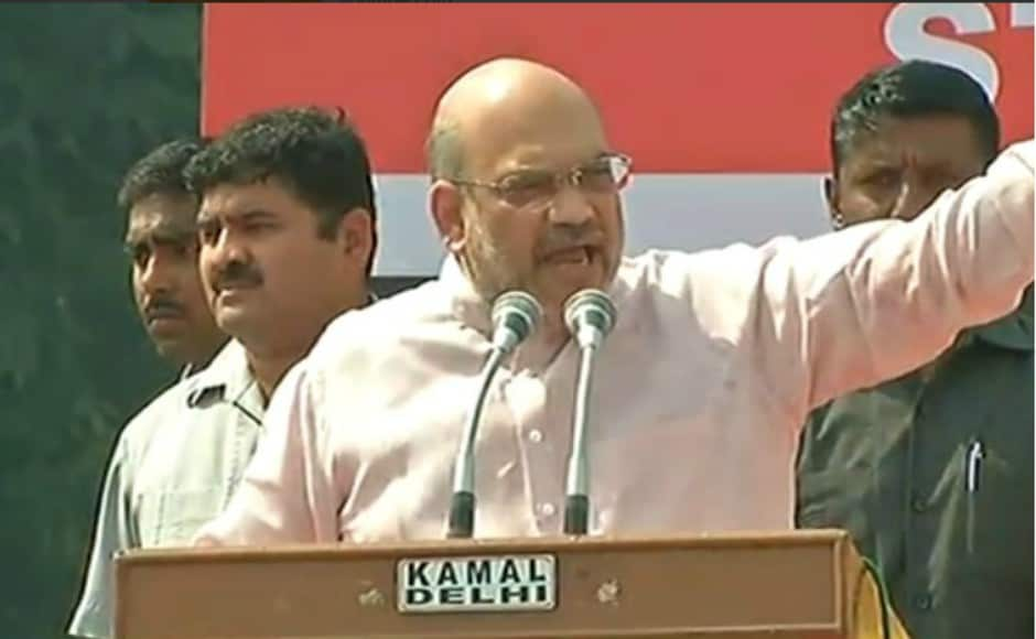 Shah also led a march from central Delhi's Connaught Place to the CPM headquarters in the Gole Market area, a distance of about 1.5 kilometres. Twitter@BJP4India