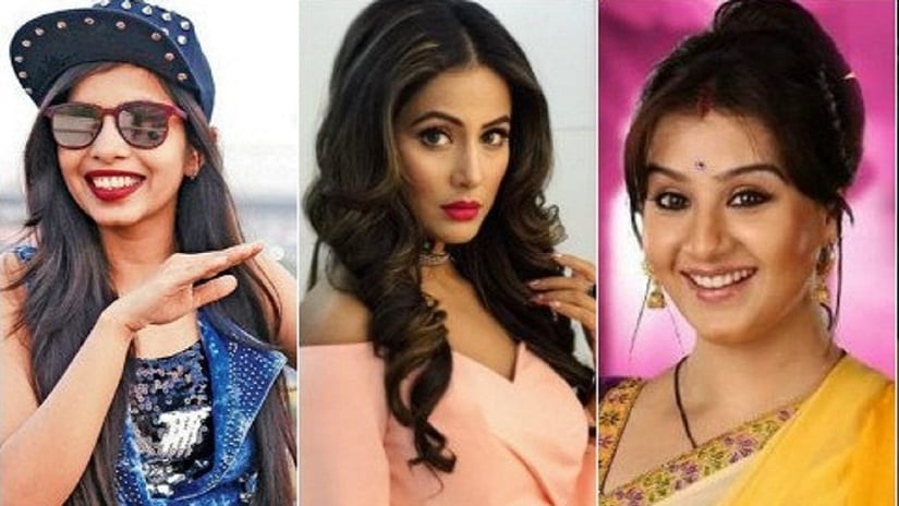 Bigg Boss 11 celebrity contestants Dhinchak Pooja, Hina Khan and Shilpa Shinde