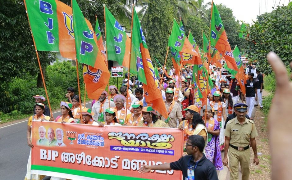 Amit Shah brings political murders to the fore in Kerala rally