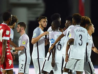 France kicked off their World Cup with a thumping 7-1 win over New Caledonia. Image courtesy: Twitter @FIFAcom
