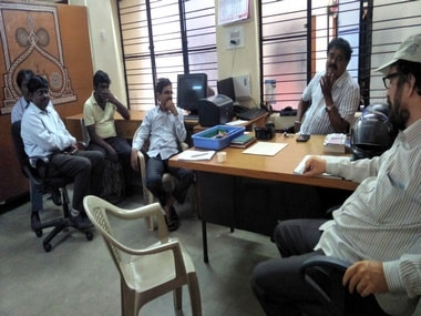 Gauri Lankesh staff at the publication's Bengaluru office. Nivedita Niranjankumar/101Reporters