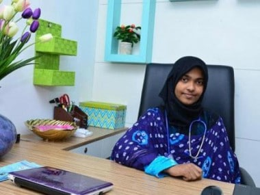 File photo of Hadiya, formerly Akhila Ashokan. Image courtesy Firstpost Hindi