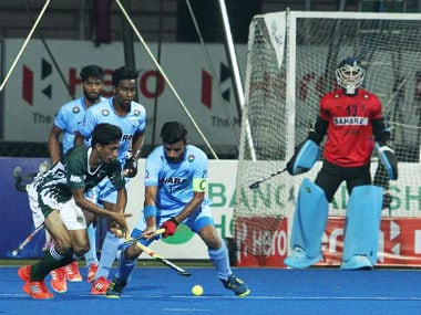 Action between India and Pakistan in the Hockey Asia Cup 2017. Twitter/ @TheHockeyIndia