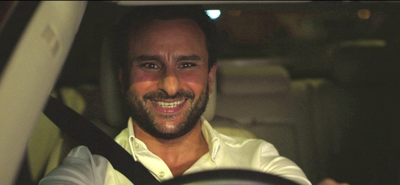 Saif Ali Khan in a still from Kaalakaandi. YouTube
