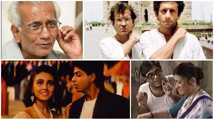 (Clockwise from top left) director Kundan Shah; stills from Jaane Bhi Do Yaaro, Wagle Ki Duniya and Kabhi Haan Kabhi Naa