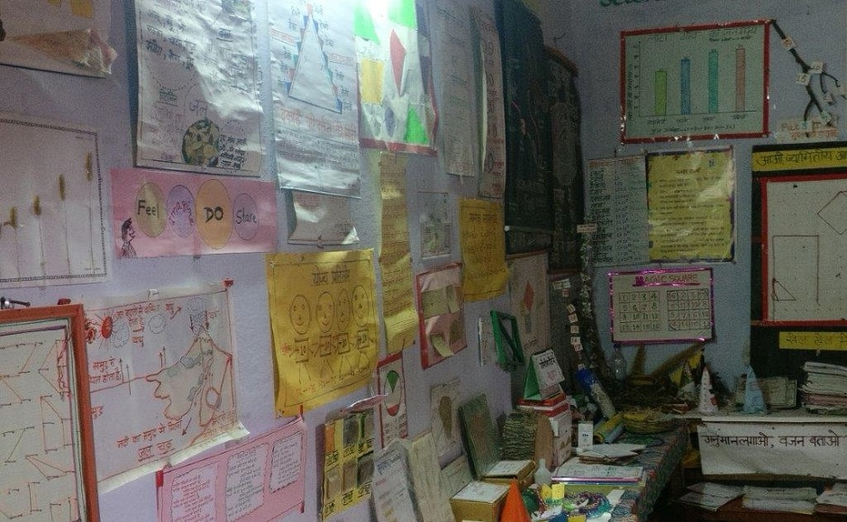 Resources created at upper primary school in Laata. Image credit: S Giridhar