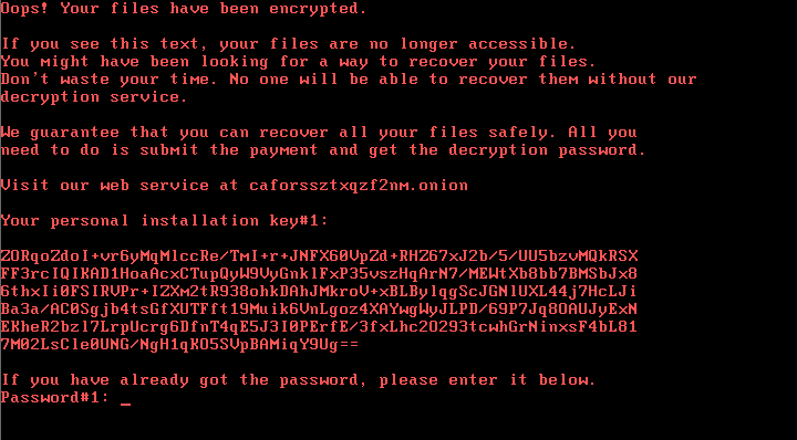 A screenshot of the ransomware. Image: ESET.