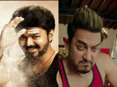 Vijay in Mersal (L); a still from Secret Superstar. Images from Twitter/@Atlee_dir and Youtube screengrab