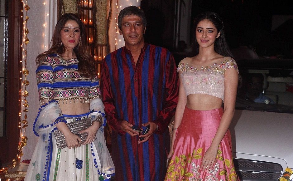 Bhavna and Chunky Pandey with their daughter Ananya. Photo: Sachin Gokhale/Firstpost
