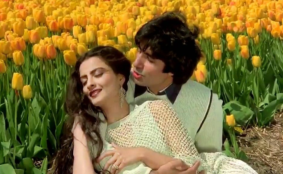 Rekha's most memorable onscreen pair was with Amitabh Bachchan. Their irresistible chemistry was last witnessed in Yash Chopra's 1980 romantic drama Silsila