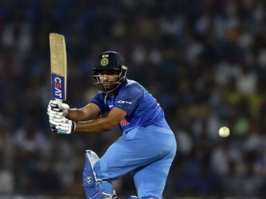 India's Rohit Sharma bats during the fifth ODI against Australia in Nagpur. AP