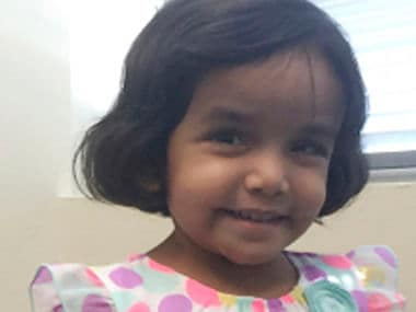 File image of Sherin Mathews, 3, who went missing on 7 October/ AP