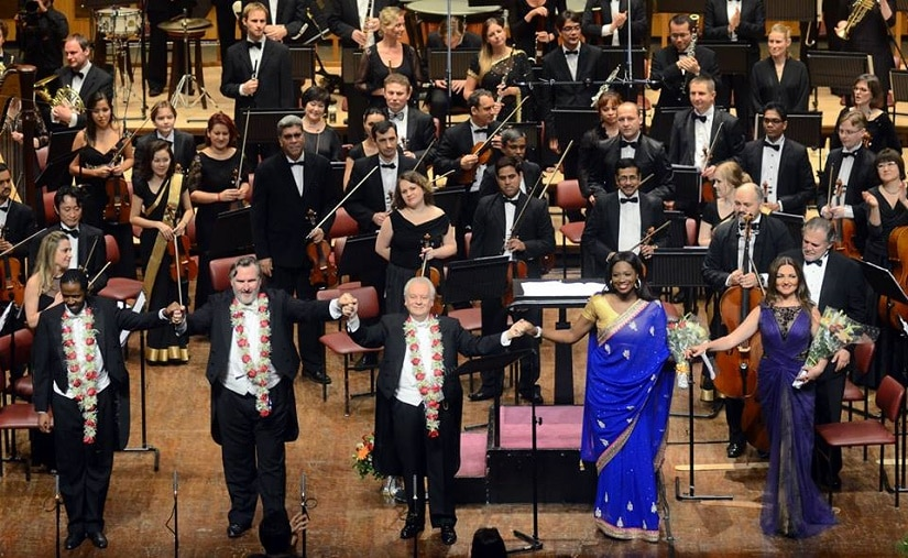 The Symphony Orchestra of India after a performance. Image from Facebook/@soimumbai