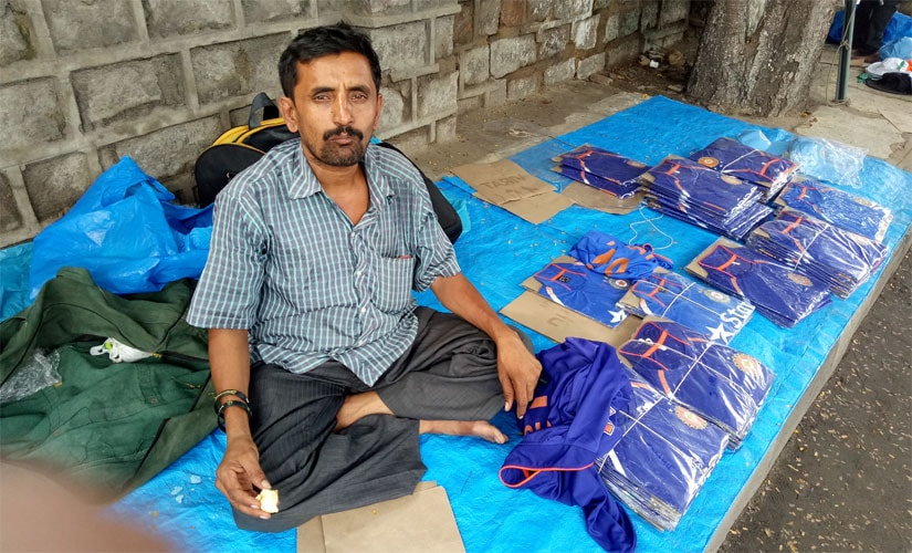 The vendors have already started to make brisk business. This gentleman here revealed that he had come all the way from Bangalore. Firstpost/ Debdutta Bhattacharjee