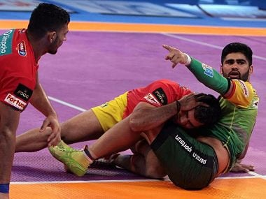 Pardeep Narwal in action at the Pro Kabaddi final between Patna pirates and Gujarat Fortunegiants. Image Courtesy: PKL official website