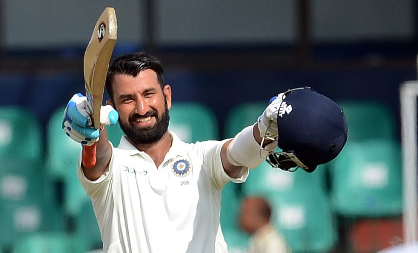 Cheteshwar Pujara is in the middle of the purple patch and he would be aiming to reach 1000 Test runs in 2017. AFP