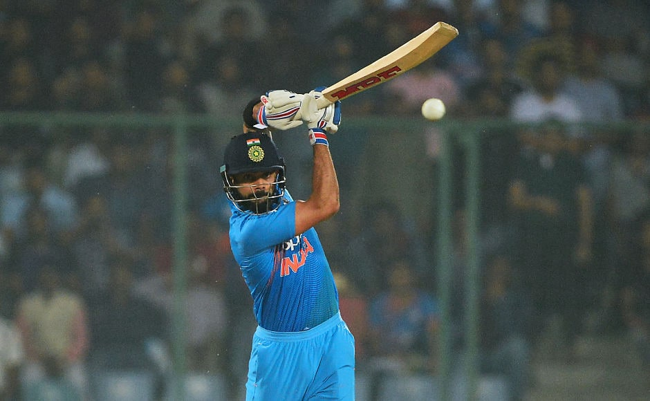 Virat Kohli scored a quickfire 26 off 11 balls to ensure India went past the 200-run mark and set New Zealand a daunting total. AFP