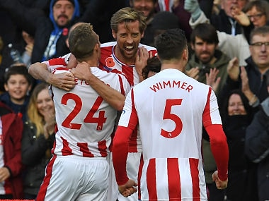 Premier League: Peter Crouch comes off the bench to earn a point for Stoke City against Leicester