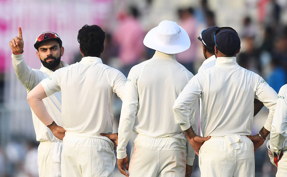 After making 51 off 94 balls and sharing a 99-run stand with Angelo Mathews, Thirimanne finally fell against Umesh Yadav. India captain Virat Kohli took a diving low catch to dismiss the left-hander. AFP