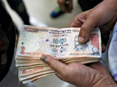 A file photo of Rs 1,000 notes. Reuters