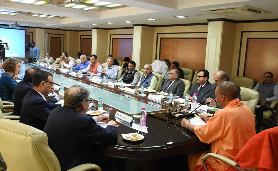 The chief minister met Gates, co-chair and trustee of the Bill and Melinda Gates Foundation, at the Shastri Bhawan in Lucknow. The state government will sign an MoU with the foundation to commence the immunisation programme. Twitter @CMOfficeUP