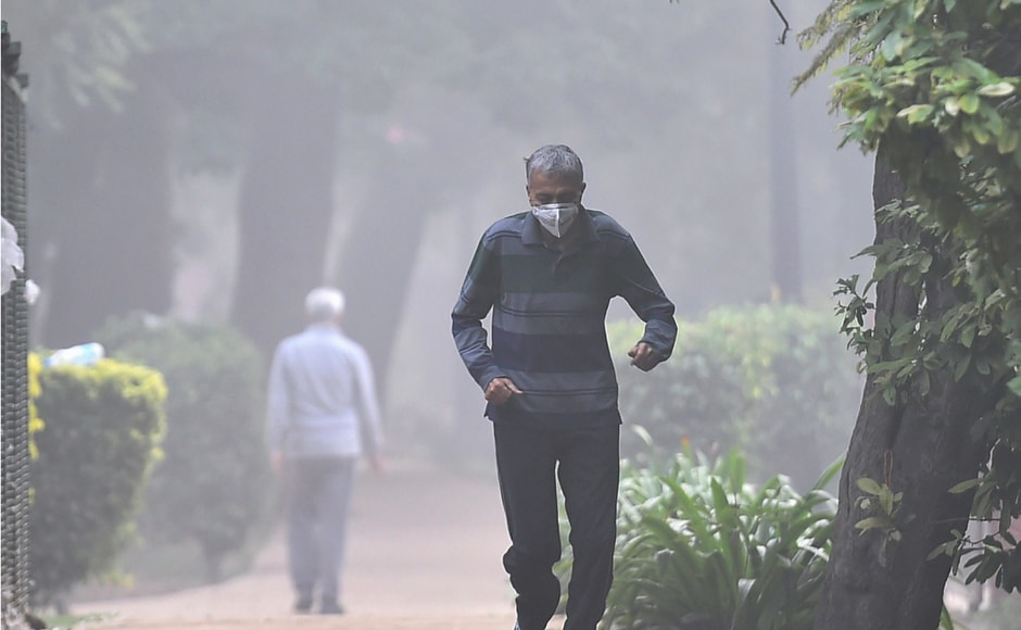 To counter the smog, Delhiites can be seen wearing air masks on streets. Sales of air purifiers have also gone up since the city faced the smog problem. PTI