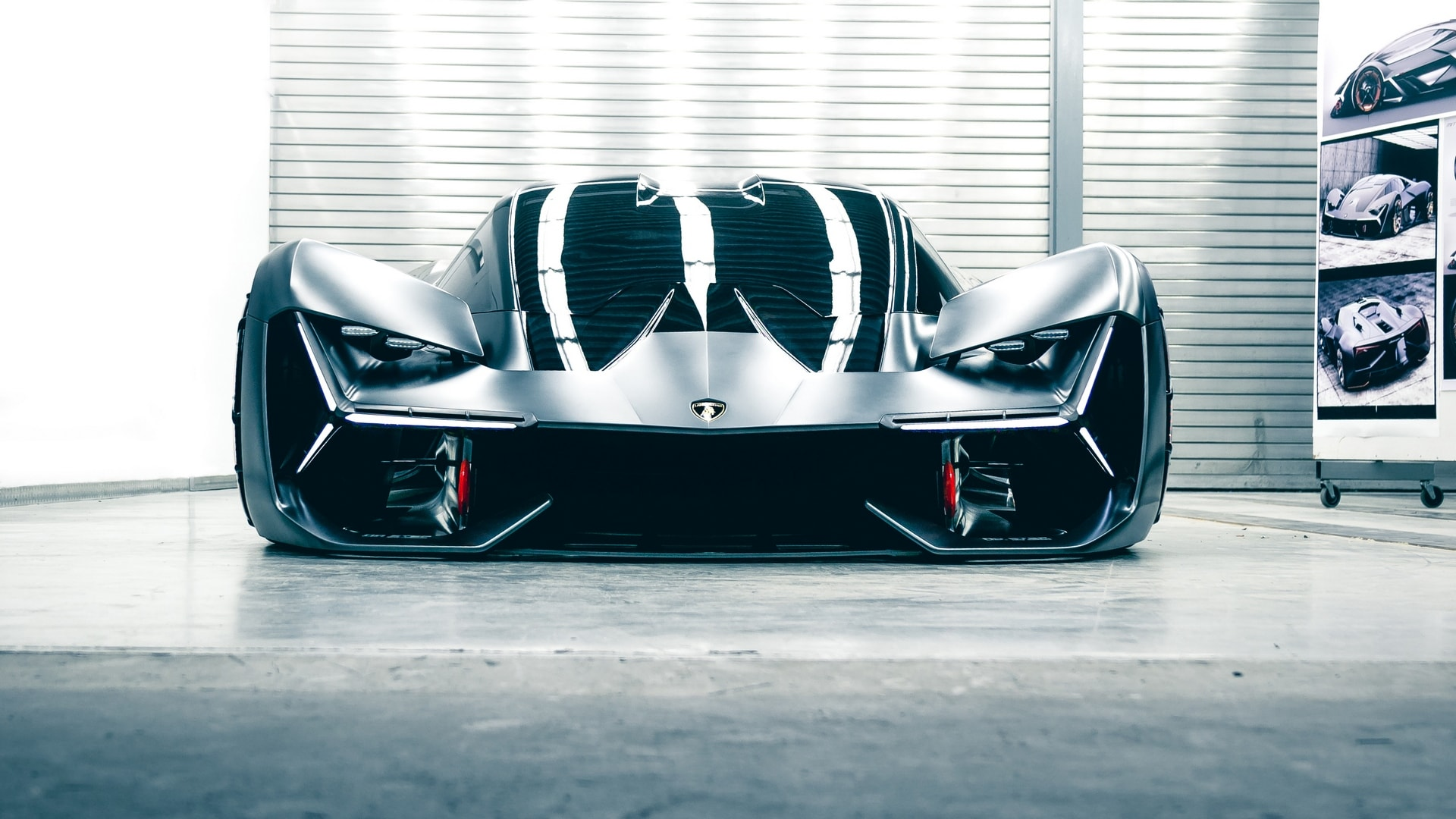 "Each wheel of the Terzo Millennio corporates an integrated electric engine paving the path for creating a ""Lamborghini Electric"". Image Credits: Lamborghini"