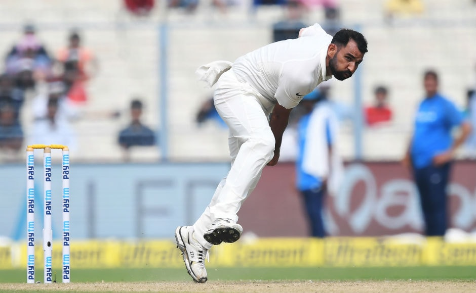 Mohammed Shami was once again very impressive with his spell as he ended with figures of 4/100 in 26.3 overs. AFP
