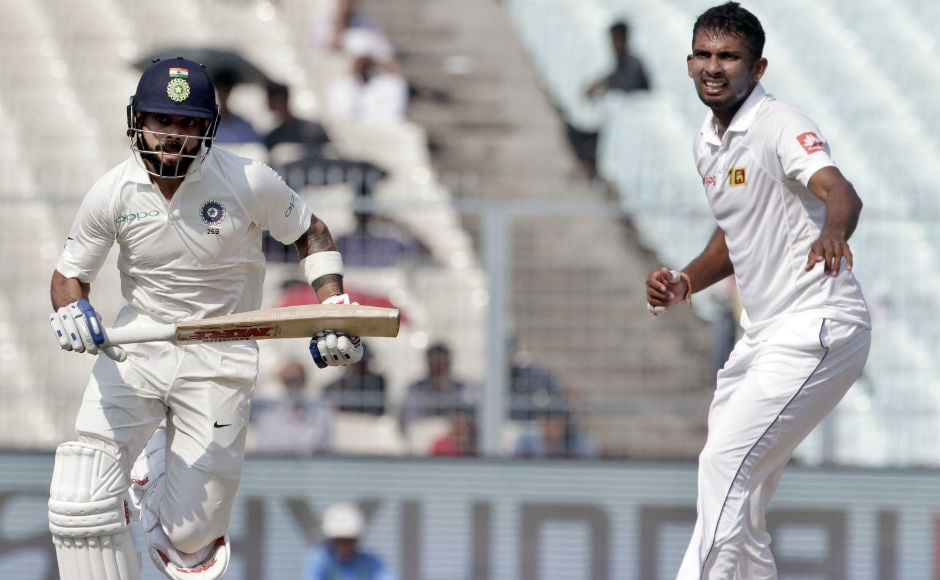 Even with wickets falling on the other side, skipper Virat Kohli kept going. Sri Lanka bowlers struggled against him and once Kohli started scoring comfortably, it became impossible to stop him. AP