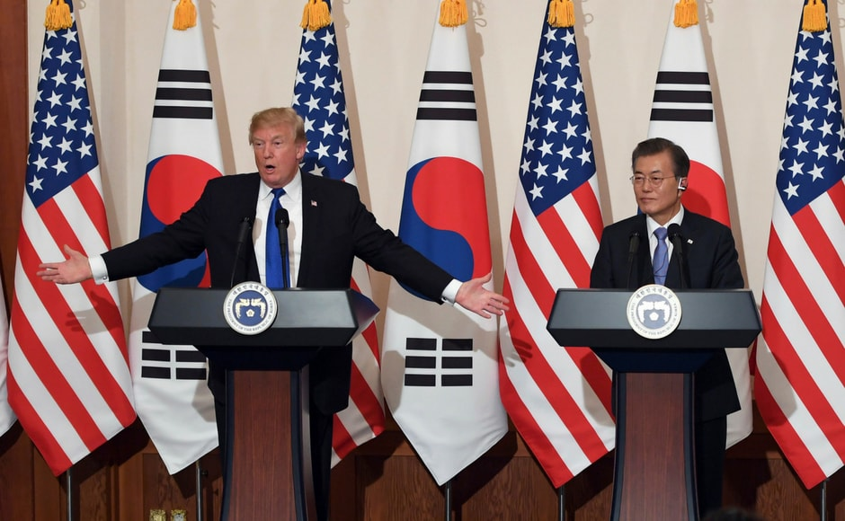 He also called on China and Russia to demand the end of North Korea's nuclear weapons and missile program. AP