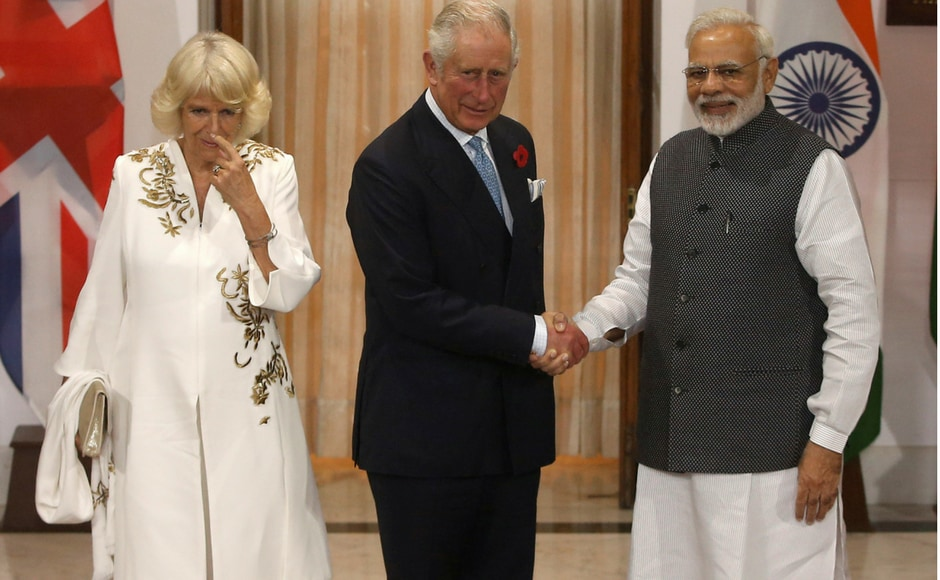 Prince of Wales, Charles Philip Arthur George, along with his wife, the Duchess of Cornwall Camilla Parker Bowles met Narendra Modi in New Delhi on Wednesday. Reuters